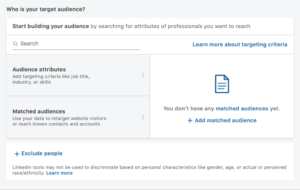 How to set up LinkedIn matched audience